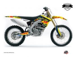 Suzuki 450 RMZ Dirt Bike ERASER Graphic kit Blue Yellow LIGHT