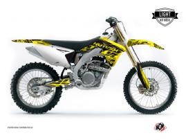 Suzuki 450 RMZ Dirt Bike ERASER Graphic kit Yellow Black LIGHT