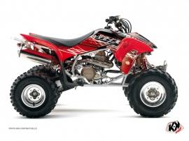 Graphic Kit ATV Eraser Honda 450 TRX Red White