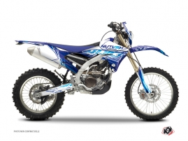 Yamaha 450 WRF Dirt Bike ERASER Graphic kit Blue