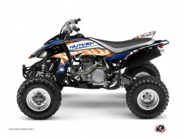 Yamaha 450 YFZ ATV ERASER Graphic kit Blue Orange