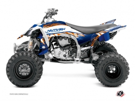 Graphic Kit ATV Eraser Yamaha 450 YFZ R Blue Orange