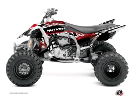 Graphic Kit ATV Eraser Yamaha 450 YFZ R Red White