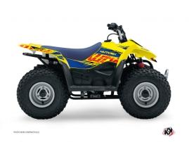 Graphic Kit ATV Eraser Suzuki 50 LT Blue Yellow