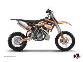 Graphic Kit Dirt Bike Eraser KTM 50 SX Blue Orange