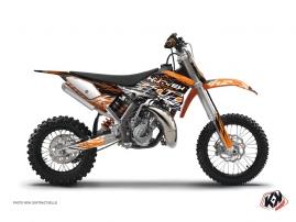 Graphic Kit Dirt Bike Eraser KTM 50 SX Orange Black