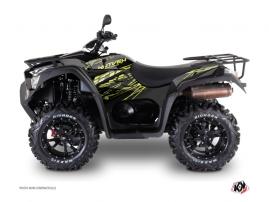Kymco 550-700 MXU ATV Eraser Graphic Kit Neon Grey