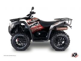 Kymco 550-700 MXU ATV Eraser Graphic Kit Red White