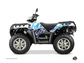 Polaris 550-850-1000 Sportsman Forest ATV ERASER Graphic kit Blue
