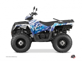 Polaris 570 Sportsman Touring ATV ERASER Graphic kit Blue