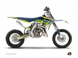 Graphic Kit Dirt Bike Eraser Husqvarna TC 65 Yellow Blue