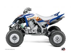 Graphic Kit ATV Eraser Yamaha 660 Raptor Blue Orange