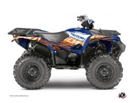 Yamaha 700-708 Grizzly ATV ERASER Graphic kit Blue Orange