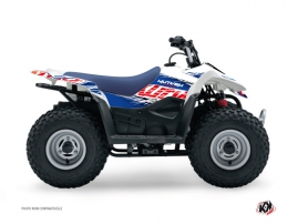 Suzuki 80 LT ATV ERASER Graphic kit Blue Red