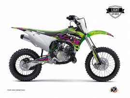 Kawasaki 85 KX Dirt Bike ERASER Graphic kit Green LIGHT