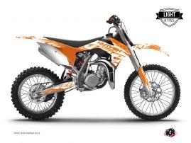 KTM 85 SX Dirt Bike ERASER Graphic kit Orange LIGHT