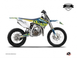Husqvarna TC 85 Dirt Bike Eraser Graphic Kit Yellow Blue LIGHT