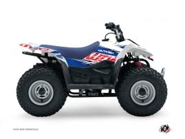Suzuki 90 LTZ ATV ERASER Graphic kit Blue Red
