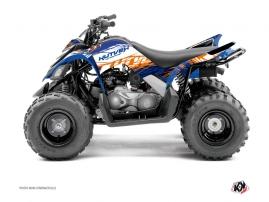 Yamaha 90 Raptor ATV ERASER Graphic kit Blue Orange
