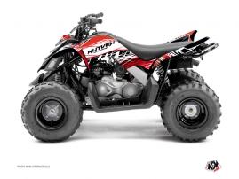 Yamaha 90 Raptor ATV ERASER Graphic kit Red White