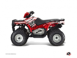 Polaris 90 Sportsman ATV ERASER Graphic kit Red White