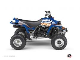 Graphic Kit ATV Eraser Yamaha Banshee Blue Orange