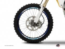 Graphic Kit Wheel decals Dirt Bike Eraser Blue