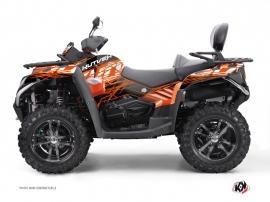 Graphic Kit ATV Eraser CF Moto CFORCE 800 S Orange Noir