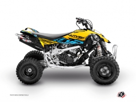 Can Am DS 650 ATV ERASER Graphic kit Yellow Blue