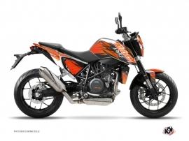 Graphic Kit Street Bike Eraser KTM Duke 690 R Orange Black