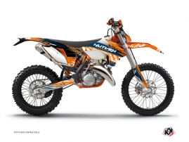 KTM EXC-EXCF Dirt Bike Eraser Graphic Kit Blue Orange
