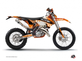 KTM EXC-EXCF Dirt Bike Eraser Graphic Kit Orange Black