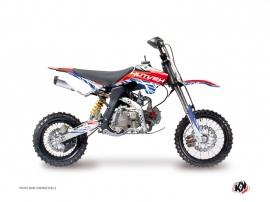 Graphic Kit Dirt Bike Eraser YCF F150 Red Blue