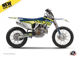 Husqvarna FC 350 Dirt Bike Eraser Graphic Kit Yellow Blue