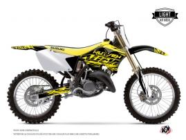 Graphic Kit Dirt Bike Eraser Fluo Suzuki 125 RM Yellow LIGHT