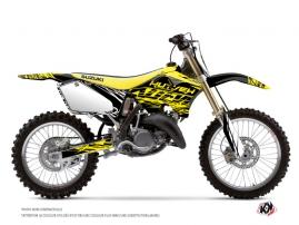 Graphic Kit Dirt Bike Eraser Fluo Suzuki 125 RM Yellow