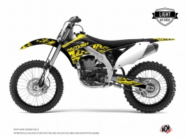 Kawasaki 250 KXF Dirt Bike Eraser Fluo Graphic Kit Yellow LIGHT