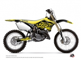 Suzuki 250 RM Dirt Bike ERASER FLUO Graphic kit Yellow