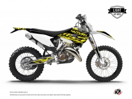 Husqvarna 250 TE Dirt Bike Eraser Fluo Graphic Kit Yellow LIGHT