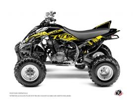 Graphic Kit ATV Eraser Fluo Yamaha 350 Raptor Yellow