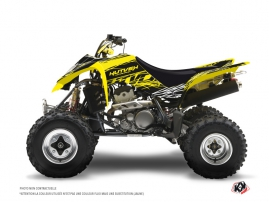 Graphic Kit ATV Eraser Fluo Suzuki 400 LTZ Yellow