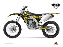 Kawasaki 450 KXF Dirt Bike ERASER FLUO Graphic kit Yellow LIGHT