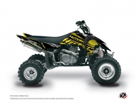 Graphic Kit ATV Eraser Fluo Suzuki 450 LTR Yellow