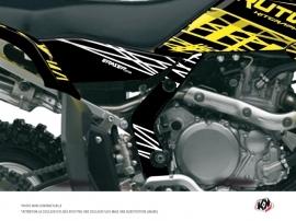 Graphic Kit Frame protection ATV Eraser Fluo Suzuki 450 LTR Yellow