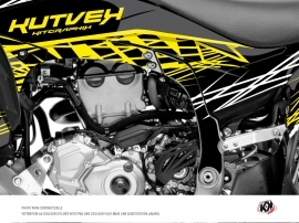 Graphic Kit Frame protection ATV Eraser Fluo Yamaha 450 YFZ-R 2014-2016 Yellow