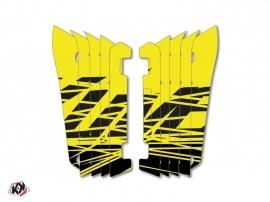 Graphic Kit Radiator guards Eraser Fluo Yamaha 450 YZF 2014-2016 Yellow