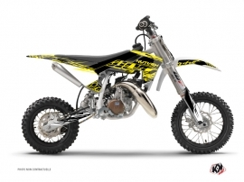 Graphic Kit Dirt Bike Eraser Fluo Husqvarna TC 50 Yellow