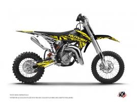 KTM 50 SX Dirt Bike ERASER FLUO Graphic kit Yellow