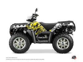 Graphic Kit ATV Eraser Fluo Polaris 550-850-1000 Sportsman Forest Yellow