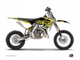 Graphic Kit Dirt Bike Eraser Fluo Husqvarna TC 65 Yellow